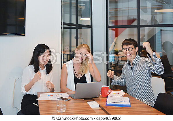 ミーティング, グループ, 部屋, ビジネス 人々 - csp54639862