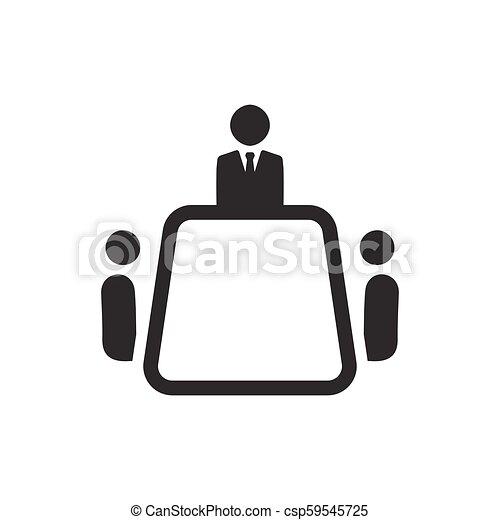 ミーティング, ビジネス, アイコン - csp59545725