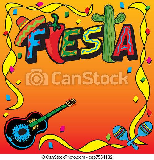 メキシコ人, 祝祭, パーティー, 招待 - csp7554132
