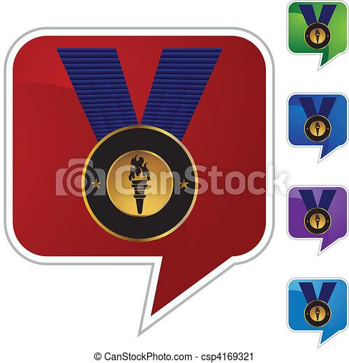 メダル, 金 - csp4169321