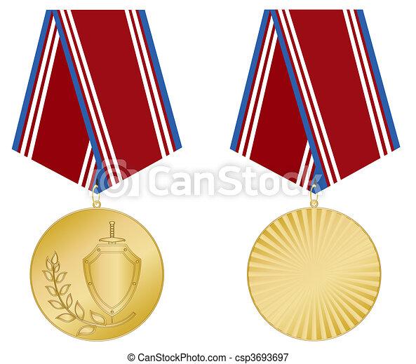 メダル, 金 - csp3693697