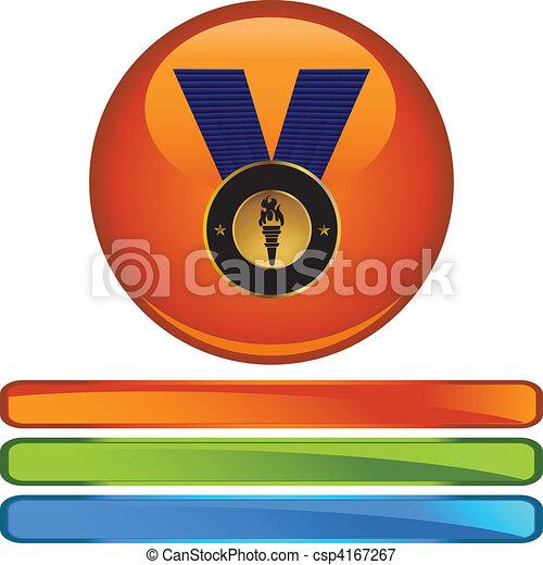 メダル, 金 - csp4167267