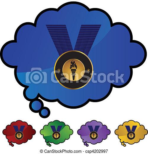 メダル, 金 - csp4202997