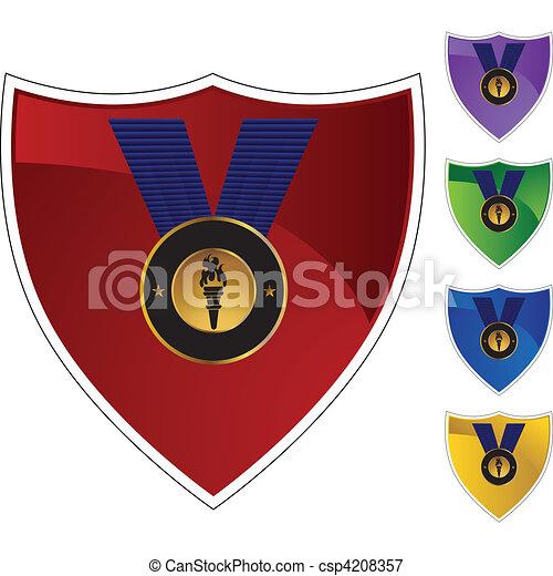 メダル, 金 - csp4208357