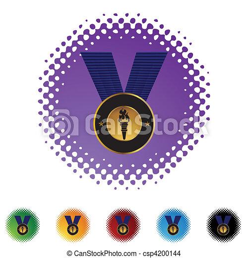 メダル, 金 - csp4200144