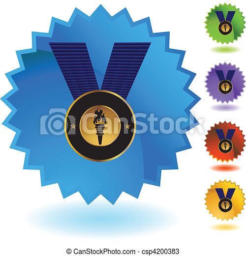 メダル, 金 - csp4200383