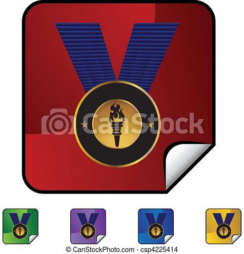メダル, 金 - csp4225414