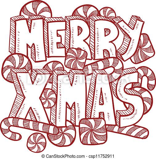メッセージ, ベクトル, クリスマス, 陽気 - csp11752911