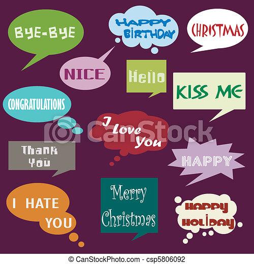 メッセージ, 対話, balloon - csp5806092