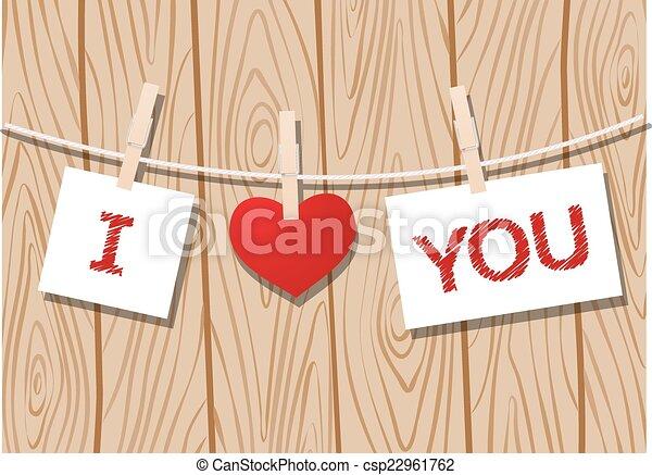 メッセージ, 愛 - csp22961762