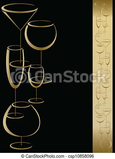 メニュー, カード, ワイン - csp10858096