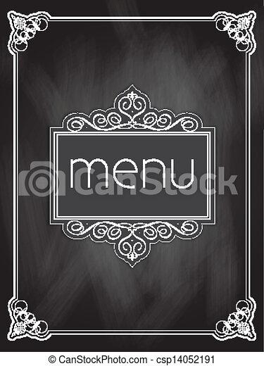 メニュー, デザイン, 黒板 - csp14052191