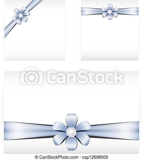メモ, リボン, カード, 創造的 - csp12698000