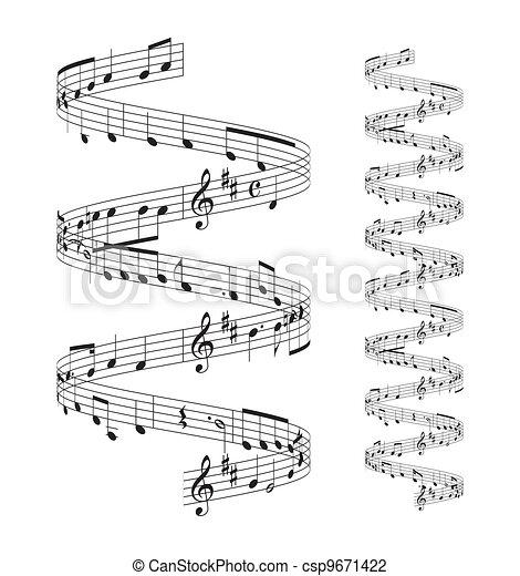 メモ, 音楽のスタッフ - csp9671422