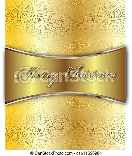 メリークリスマス, カード, ベクトル - csp11630984