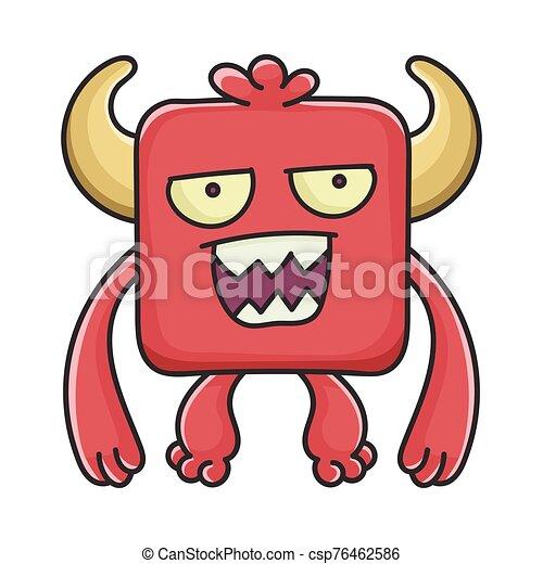 モンスター, 悪魔, 漫画, 気違い, 赤の広場 - csp76462586