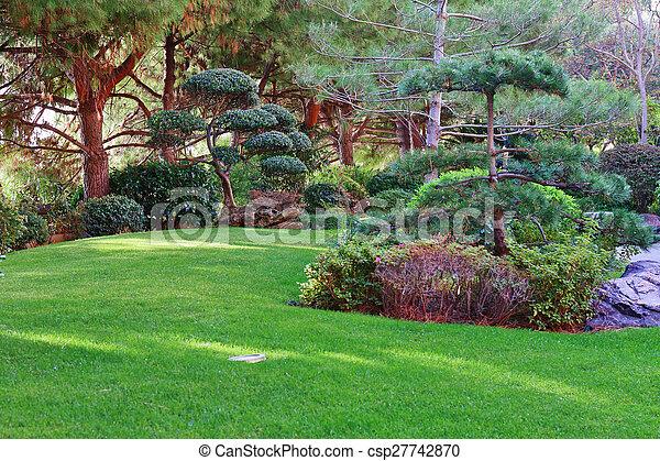モンテカルロ, 日本の庭 - csp27742870