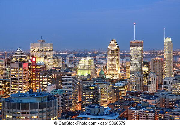モントリオール, 夕闇 - csp15866579