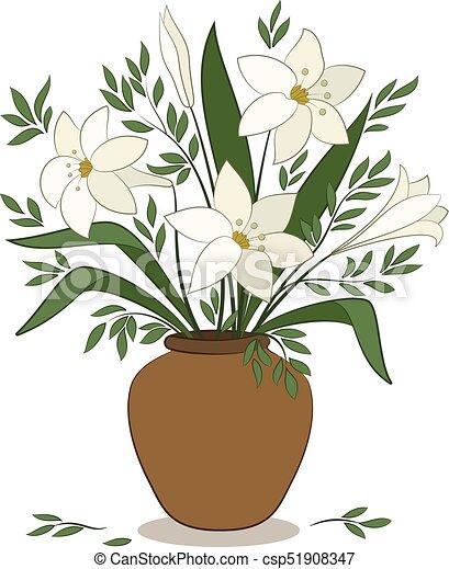 ユリ, 花, つぼ - csp51908347