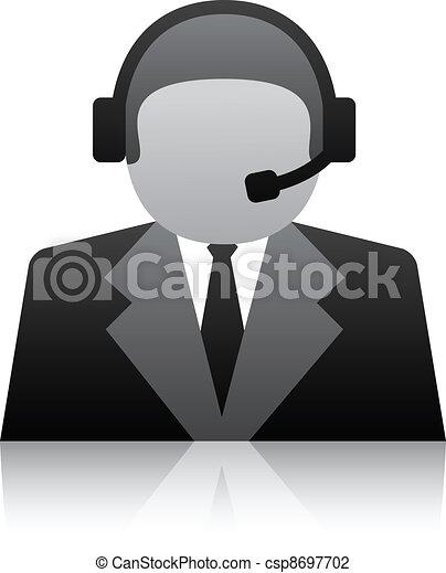 ユーザー, サポート, ベクトル, 電話, アイコン - csp8697702