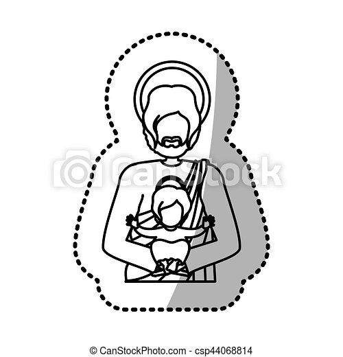 ヨセフ 神聖 キリスト教 グラフィック 神聖 イラスト ベクトル