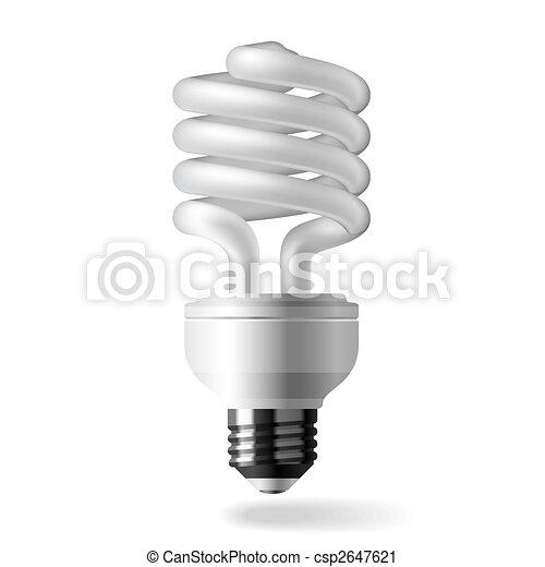 ライト, エネルギー, セービング, 電球 - csp2647621