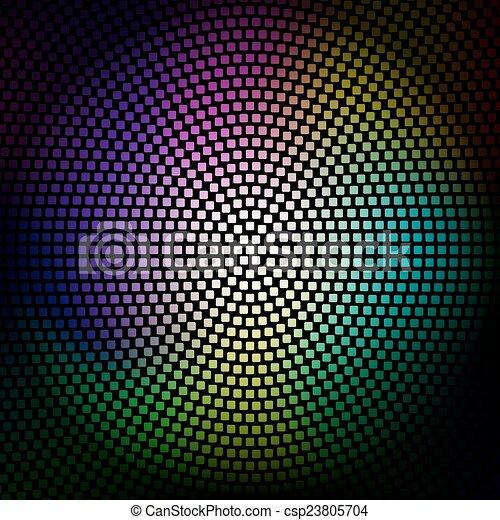 ライト, カラフルである, 背景, ディスコ - csp23805704