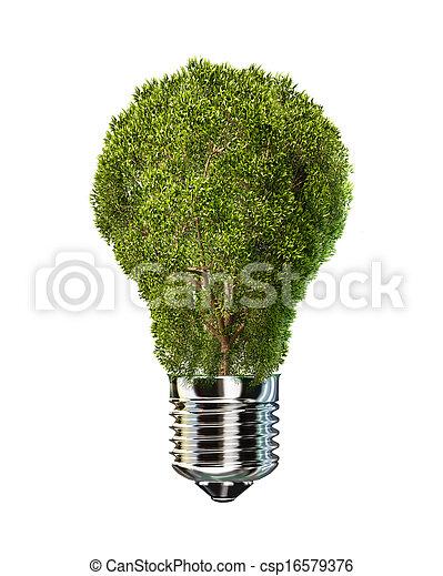 ライト, ガラス。, 場所, 木, 電球 - csp16579376