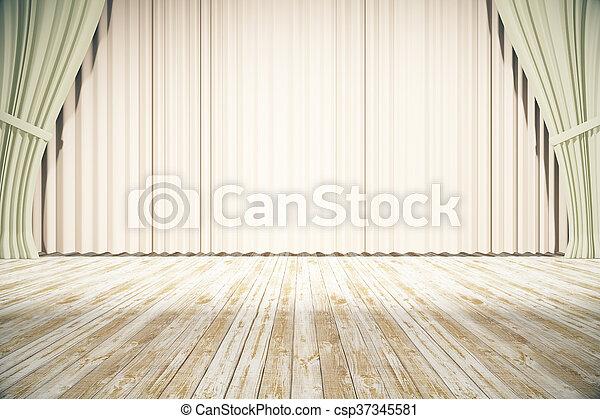 ライト, ステージ, カーテン - csp37345581