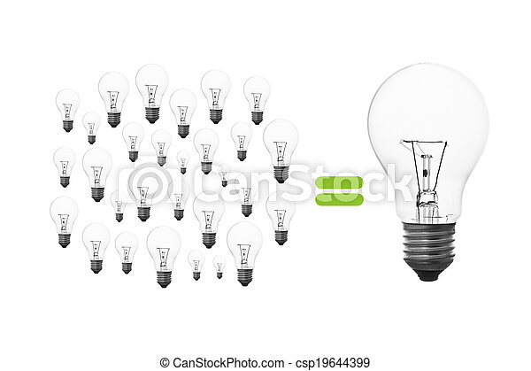 ライト, ブレーンストーミング, 電球 - csp19644399