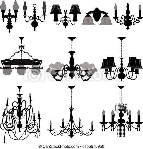 ライト, ランプ, シャンデリア - csp5675950