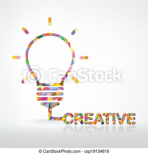 ライト, 創造的, 概念, 考え, 電球 - csp19134616