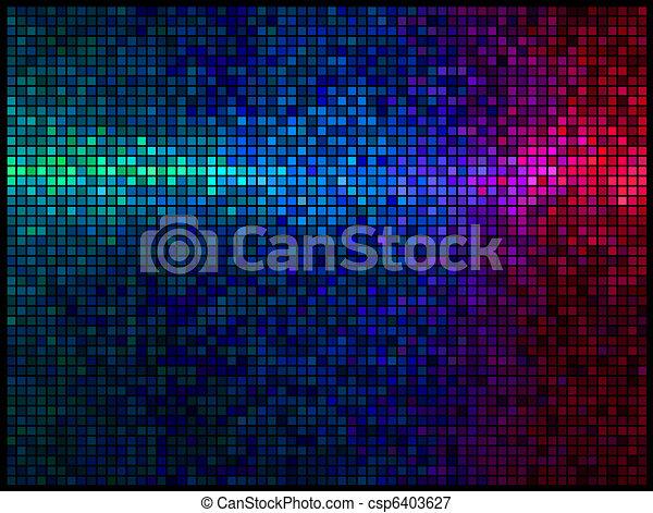 ライト, 多色刷り, 抽象的, 背景, ディスコ - csp6403627