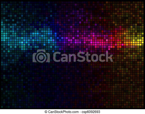 ライト, 多色刷り, 抽象的, 背景, ディスコ - csp6092693
