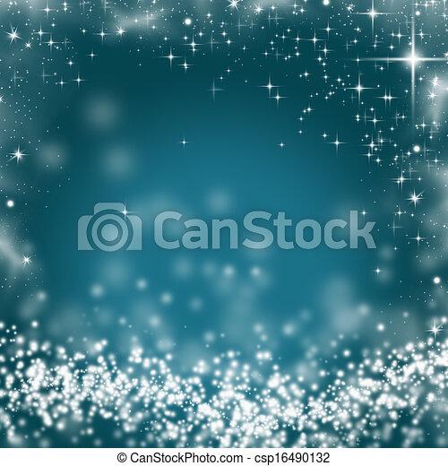 ライト, 抽象的, 休日, クリスマス, 背景 - csp16490132