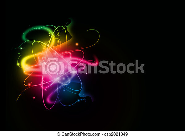 ライト, 抽象的, 背景 - csp2021049