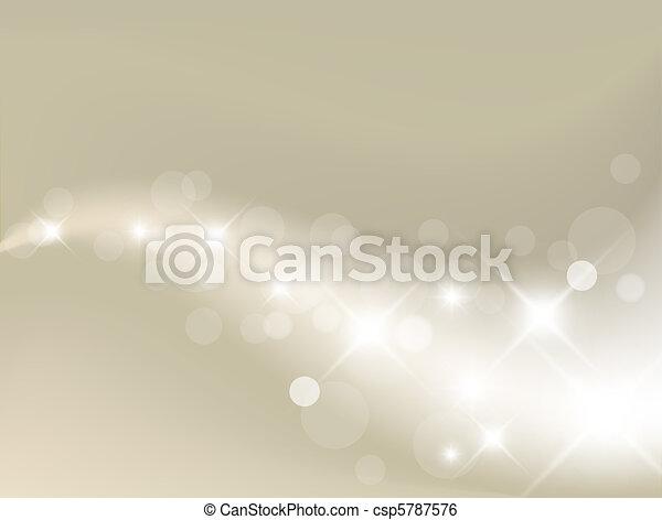 ライト, 抽象的, 銀, 背景 - csp5787576