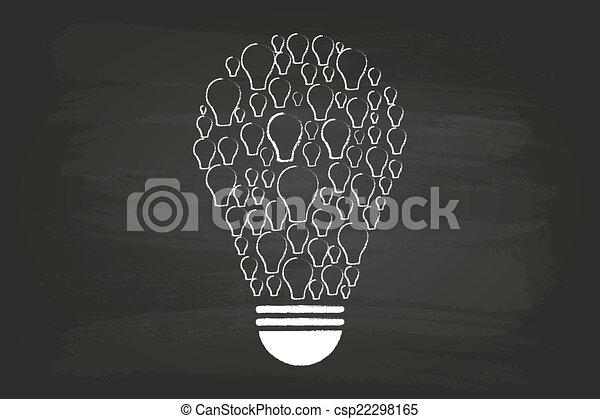 ライト, 概念, 考え, 電球 - csp22298165