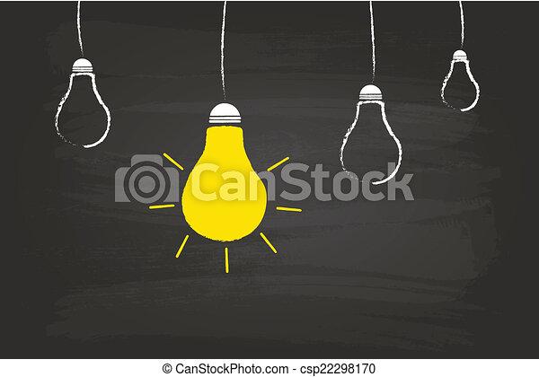 ライト, 概念, 考え, 電球 - csp22298170