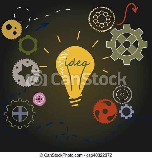 ライト, 概念, 考え, 電球 - csp40322372