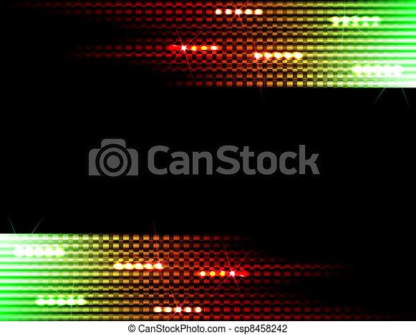 ライト, 背景, ディスコ - csp8458242