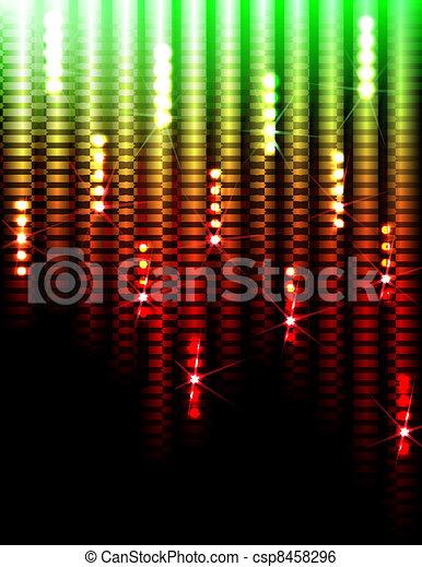 ライト, 背景, ディスコ - csp8458296