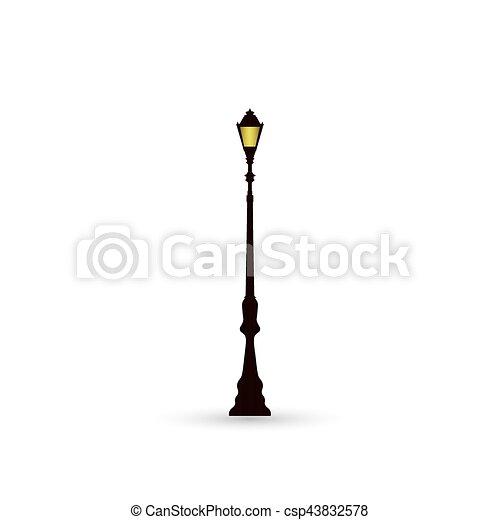 ライト, 通り, アイコン - csp43832578
