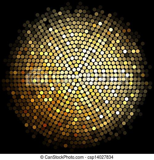 ライト, 金, 背景, ディスコ - csp14027834