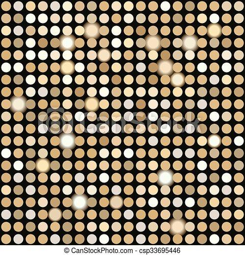 ライト, 金, 背景, ディスコ - csp33695446