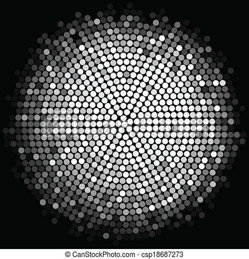 ライト, 銀, 背景, ディスコ - csp18687273