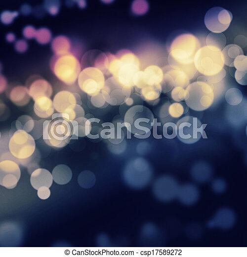 ライト, bokeh, パーティー, 背景, お祝い - csp17589272