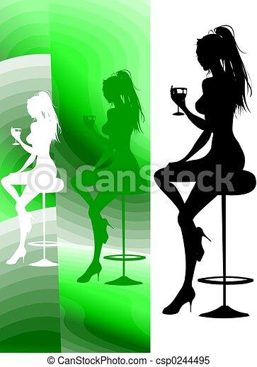 ラウンジ, パーティー, cocktai - csp0244495