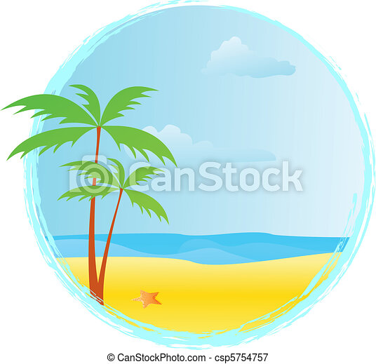 ラウンド, 夏, 旗 - csp5754757