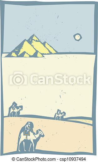 ラクダ, 砂漠 - csp10937494